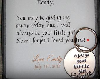 Father of the Bride Gift, Ill always be your little girl, Gift for ...