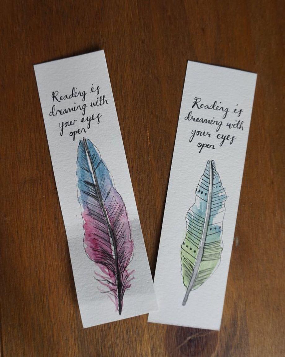 Creative Idea Bookmark Idea Creative Colorful Becreative Creativetips Life Color Creativemood F Custom Bookmarks Watercolor Bookmarks Bookmark Gifts