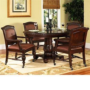 Ayden 5 Pc Caster Dining Set 54 Round Table 4 Castered