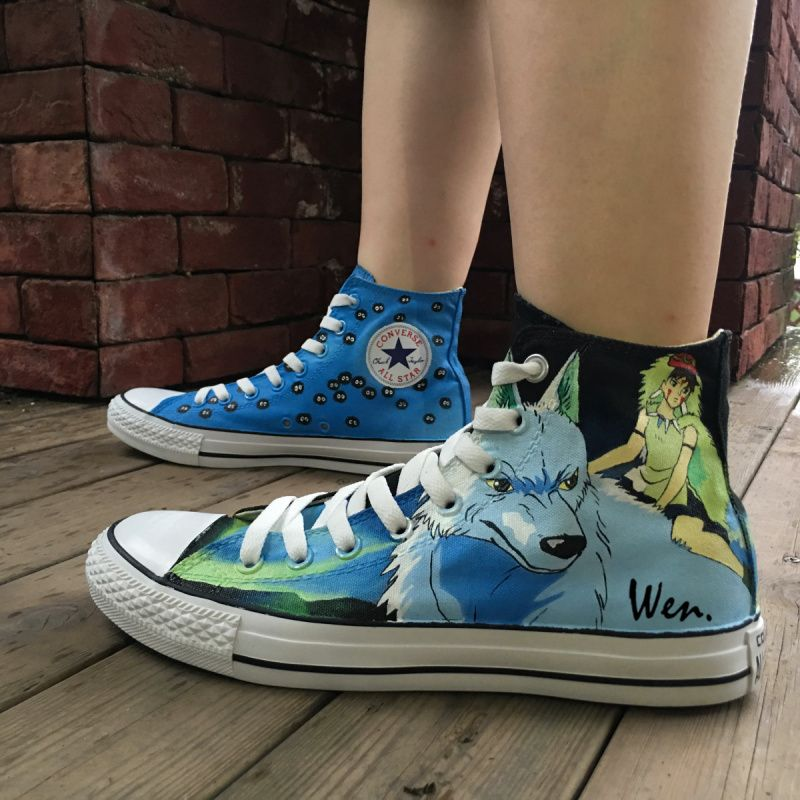 Men Women S Converse All Star Hand Painted Shoes Anime Totoro