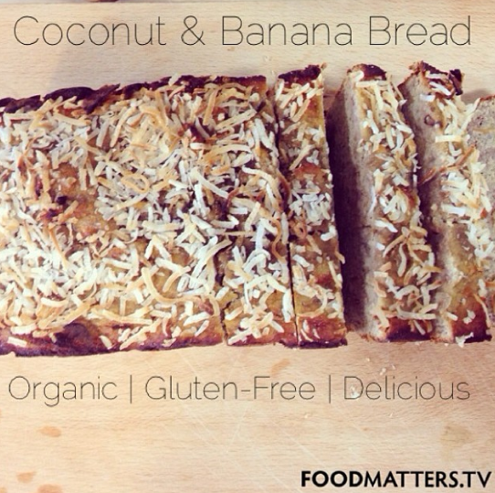 Gluten free coconut banana bread from the food matters recipe gluten free coconut banana bread from the food matters recipe book 2 bananas forumfinder Image collections