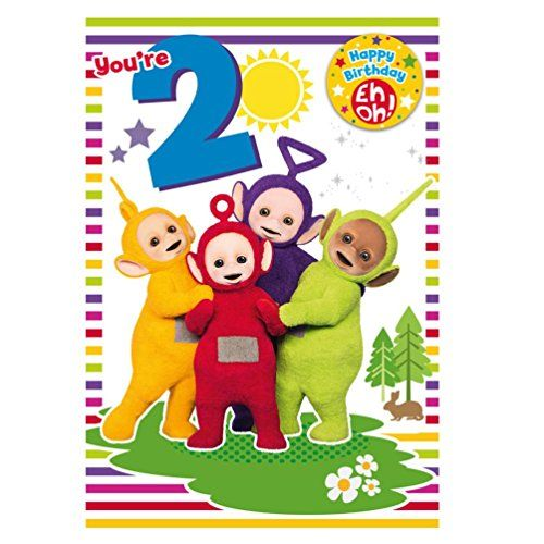 Teletubbies Age 2 Birthday Card With Badge Teletubbies Httpswww