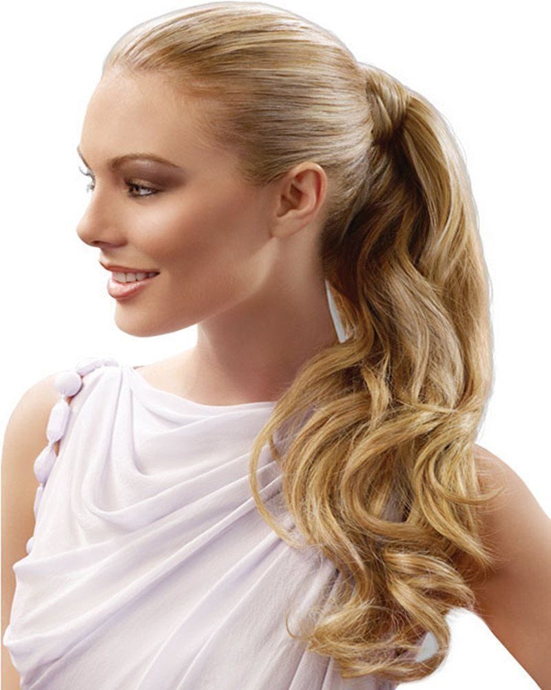 real human hair body wave wrap around high ponytail extension