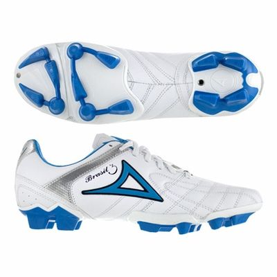 Pirma Brasil 3 Soccer Cleats White/Blue/Silver | Soccer Shoes ...