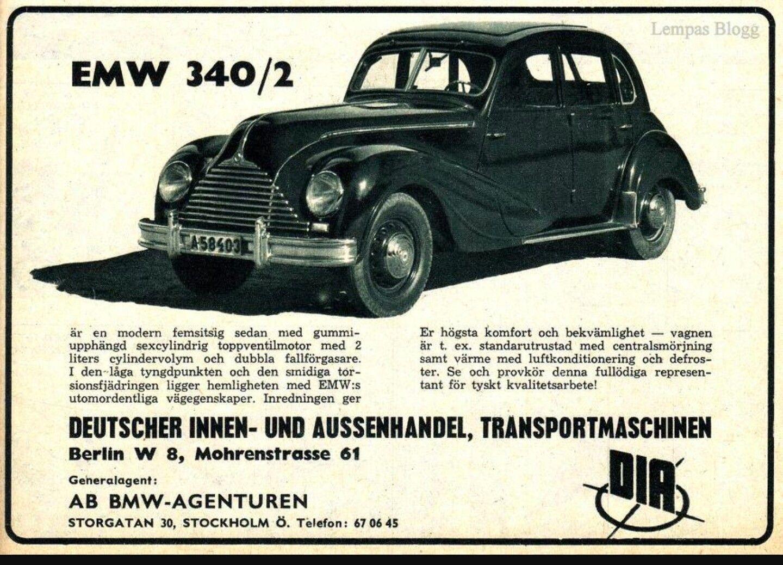 1952 - 1955 EMW 340/2, Stockholm, Sweden