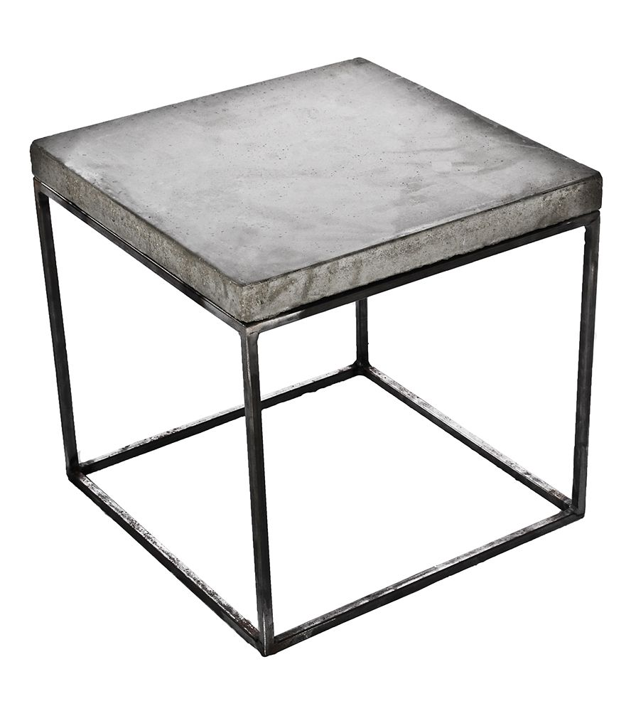 Concrete Cube End Table