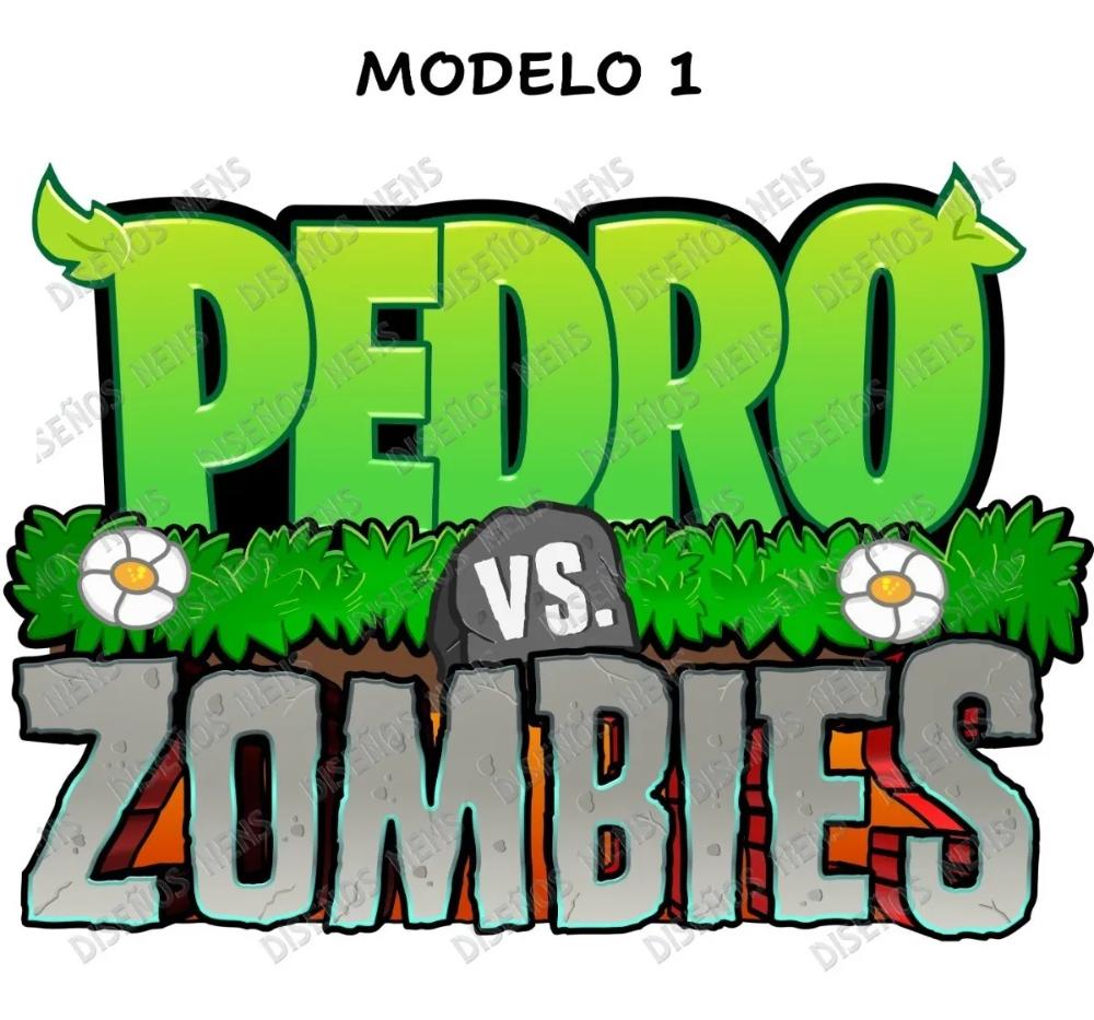 Plantas Vs Zombies Logo Personalizado Imprimible Digital 240 00 Plantas Vs Zombies Imprimible Toppers Para Cupcakes