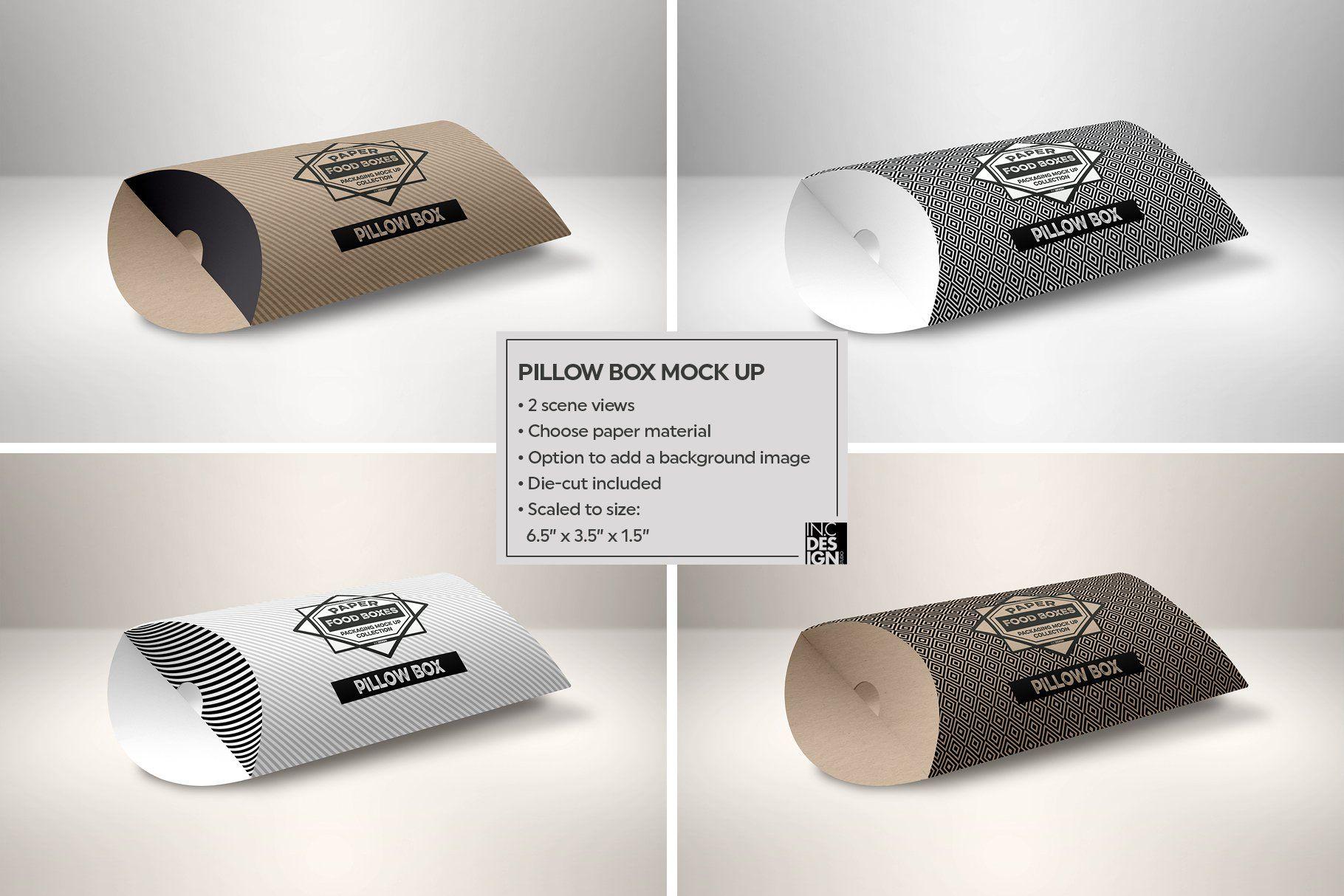 Download Pillow Box Packaging Mockup Packaging Mockup Pillow Box Free Packaging Mockup