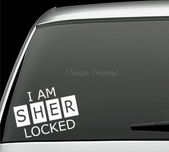 Sherlock Holmes I am sher locked Vinyl Decal by UniqueGraphix