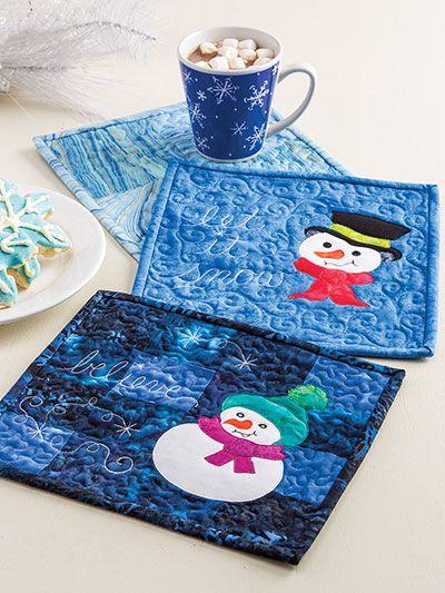 Learn to Make Quilted Mug Rugs | Mug rugs | Pinterest ...