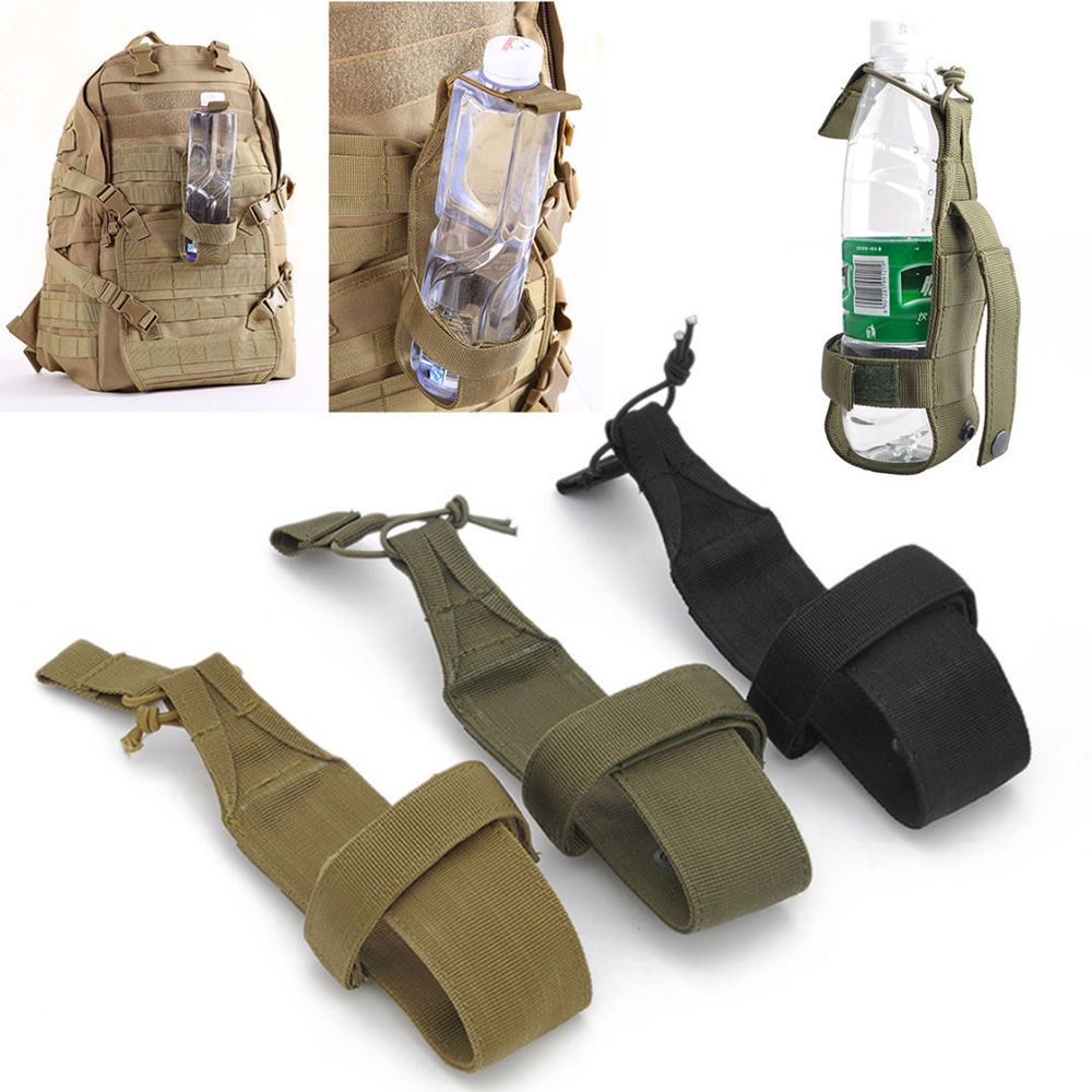 Tactical Hiking Camping Water Bottle Holder Outdoor Belt Carrier Pouch Nylon Bag