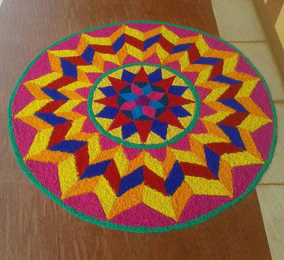 Nice Colour Combination Rangoli Pinterest Rangoli Designs Rangoli Ideas And Rangoli Patterns