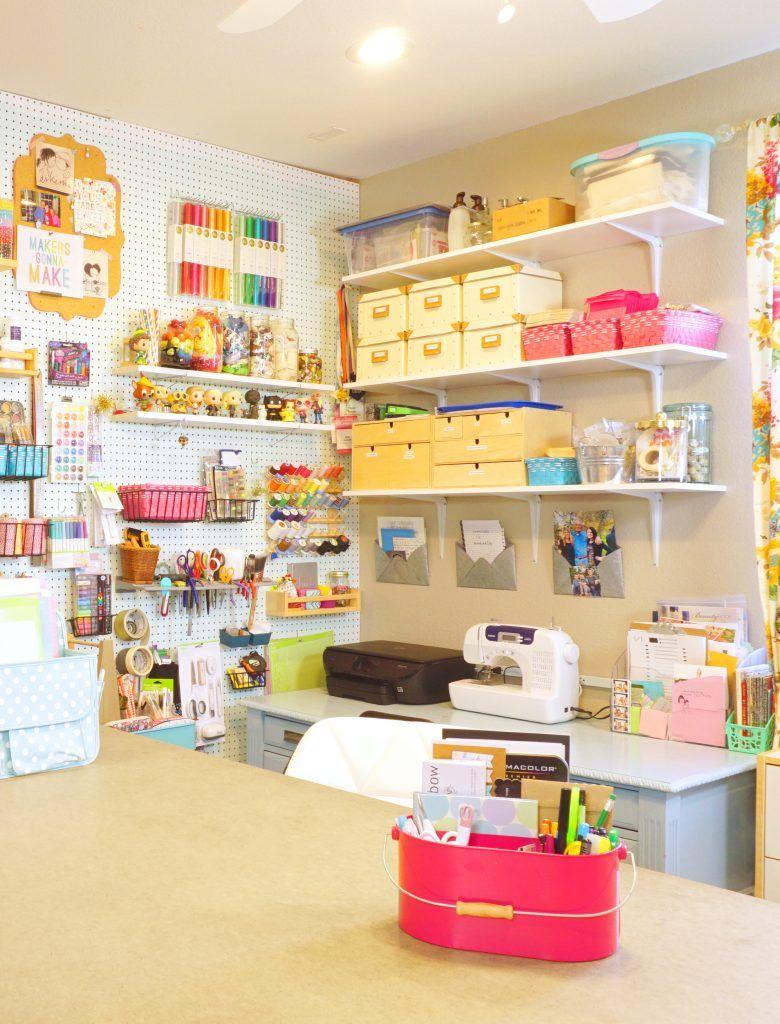 Craft room decor pretty and functional spaces pinterest craft craft room decor ideas for a pretty and functional space you will love solutioingenieria Images