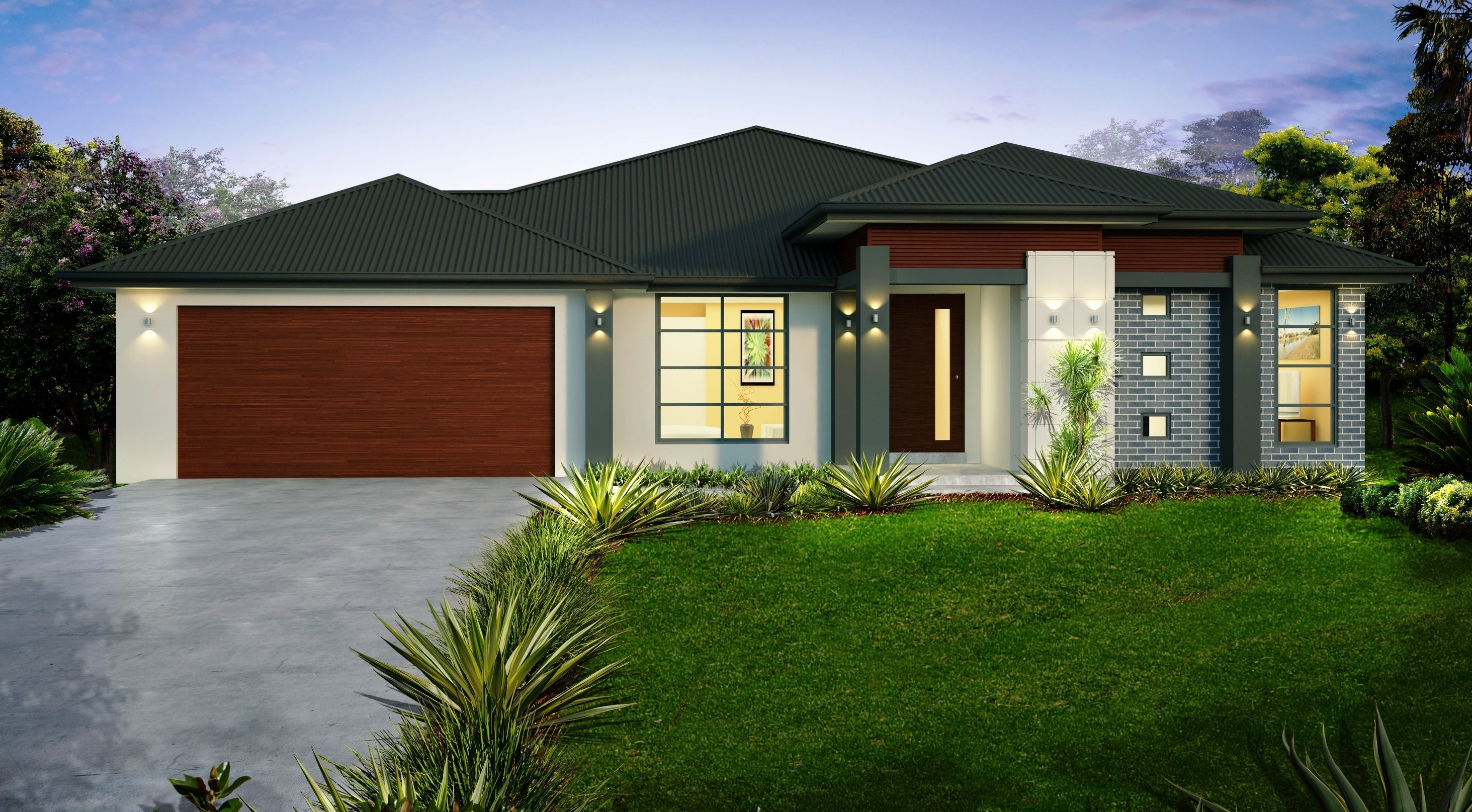 Single storey house design the orlando designed with the family in mind this modern floor plan will meet the needs of everyone in the family