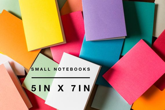 BULK Notebooks 5 X 7 Blank Front Supply Logo Free Diary Staple Bound