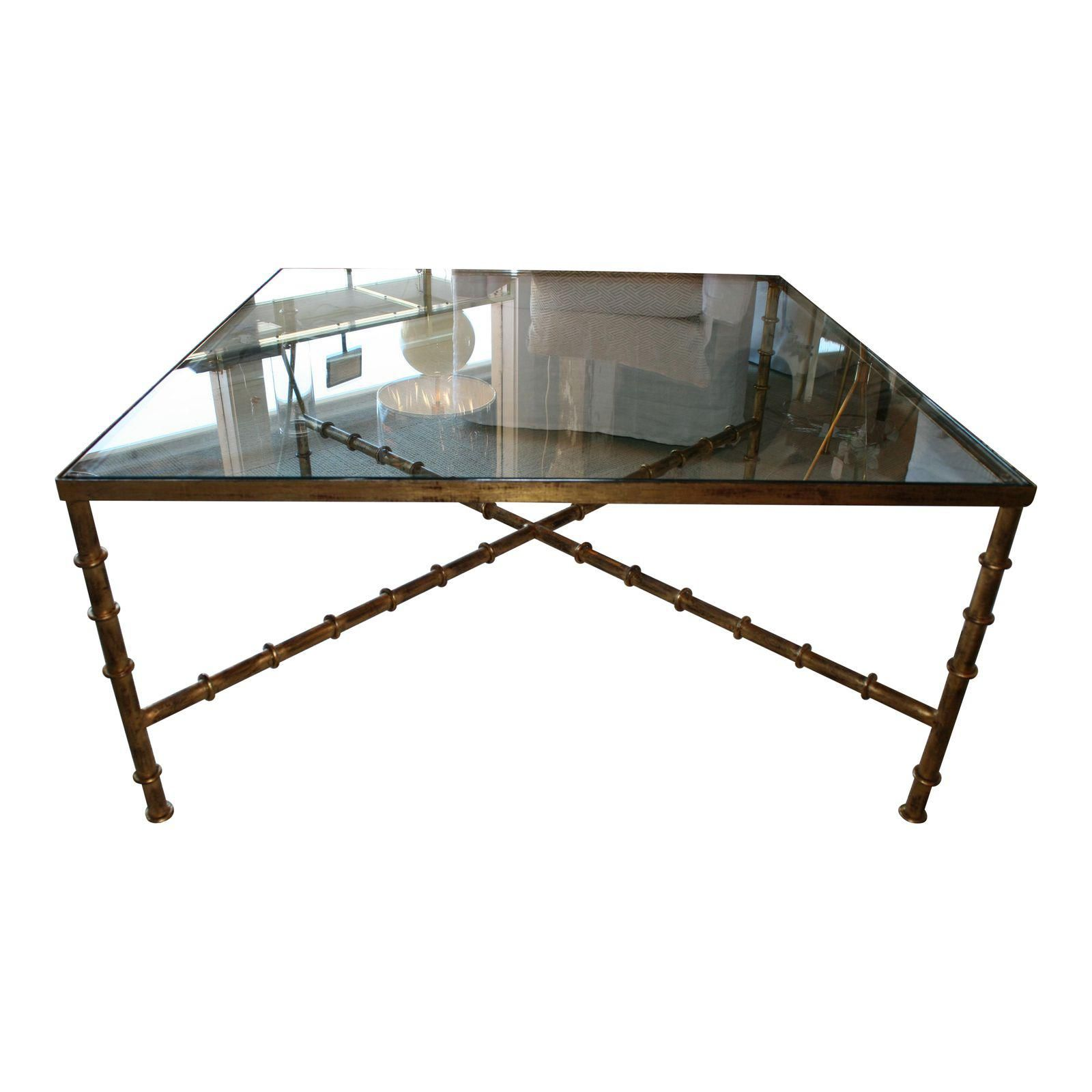 Vintage Kravet Faux Bamboo Brass Coffee Table Faux Bamboo Coffee Table Brass Coffee Table [ 1600 x 1600 Pixel ]