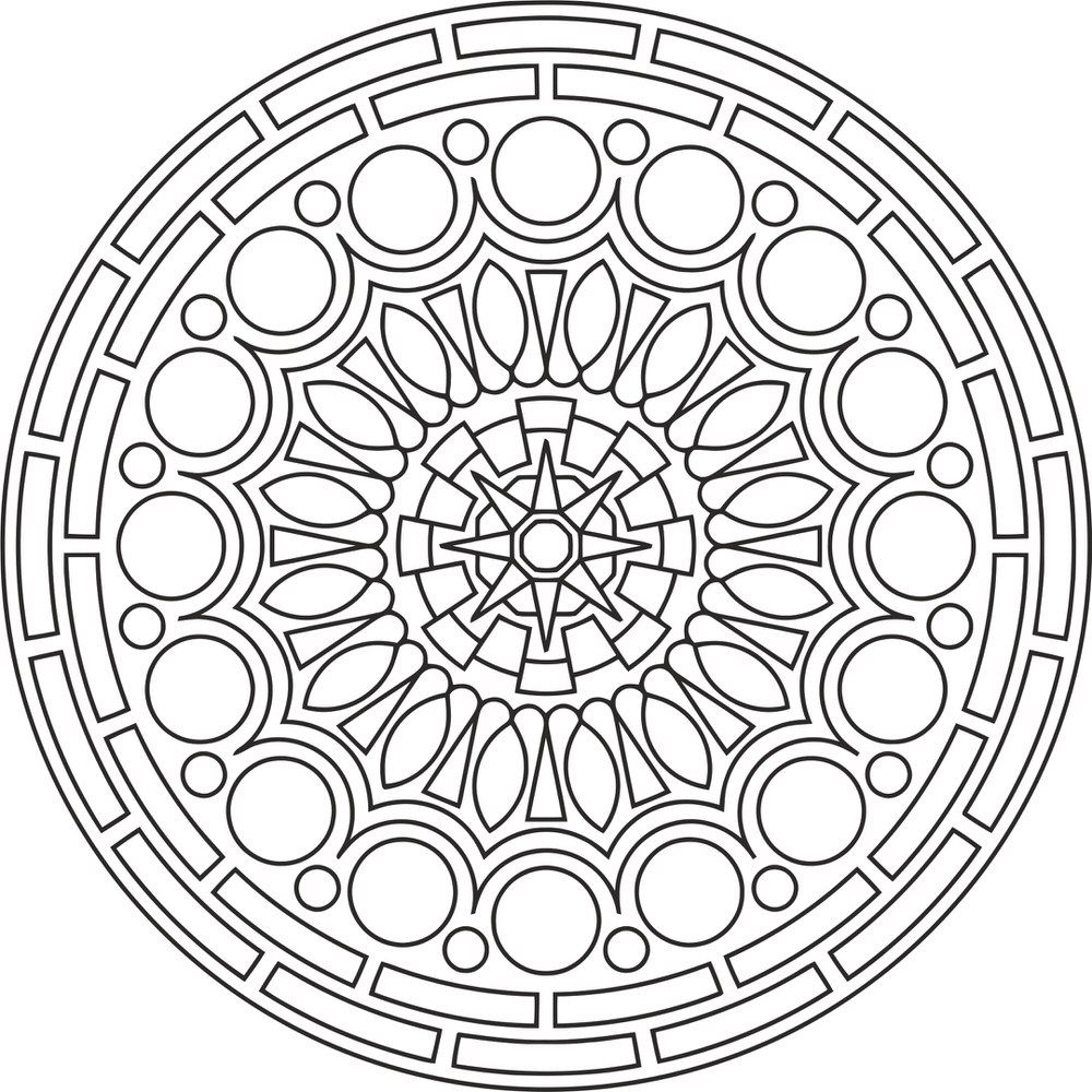 Mandala Des Round Free Vector Cdr Download 3axis Co Mandala Coloring Pages Mandala Coloring Coloring Pages