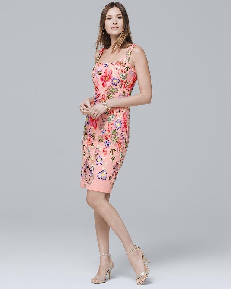 de627cfc61cd8 Women's Nicole Miller Floral-Embroidered Sheath Dress by White House Black  Market