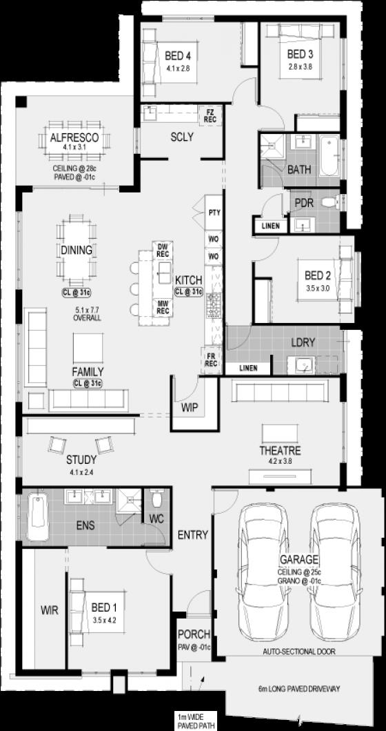 Plan Ohio My edit swop garage and master bedroom
