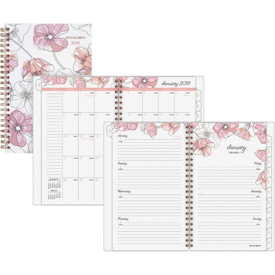 At A Glance Blush Weekly Monthly Planner Click To Buy Now At Www