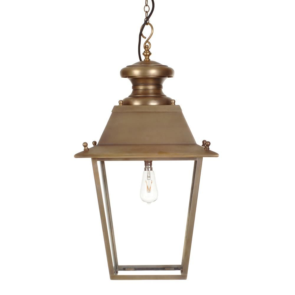 Large Canterbury Lantern In Antiqued Brass Outdoor Pendant Lighting Outdoor Lanterns Outdoor Lighting