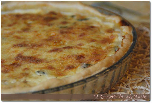 El Recetario de Lady Halcon: Quiche de salmón, espinacas y queso azul