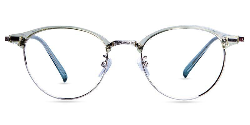 e6ed3839d64 Zenni Retro Browline Prescription Eyeglasses Green Mixed Materials 7815924