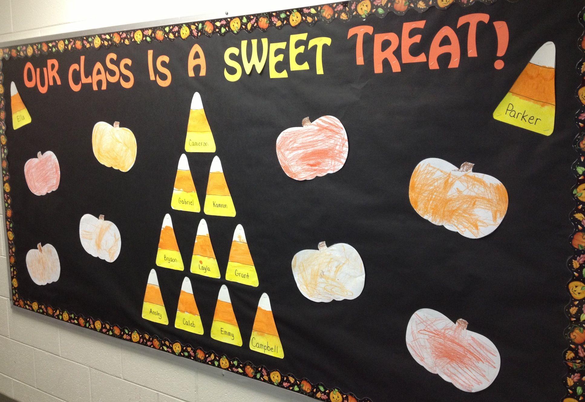 fallhalloween bulletin board - Halloween Preschool Ideas