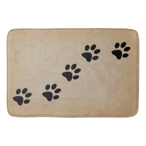 Dog Paw Prints Bathroom Mat Dog Paw Print Dog Paws Paw Print