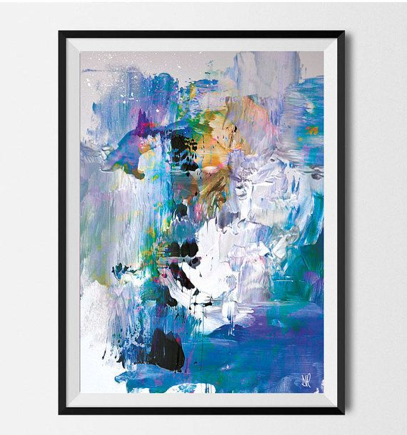 Abstract Art, Large scale printable, painting, modern abstract wall ...