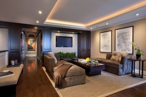 tray ceiling with lighting