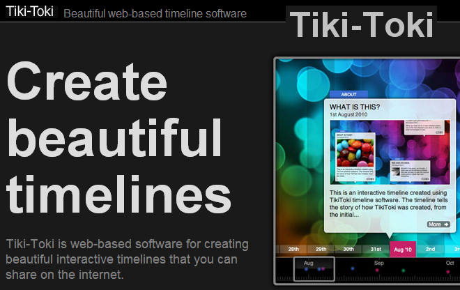 Probably The Best Looking Timelining Program Of The Lot But My Impression Is That You Get Very Limited F Timeline Software Interactive Timeline Timeline Maker
