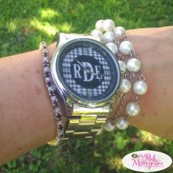 Monogrammed Womens Stainless Steel Watches in Several designs