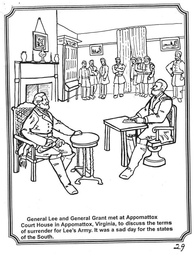 free printable us history coloring sheets homeschool learning aids america civil war see more appomattox - Civil War Coloring Pages Print