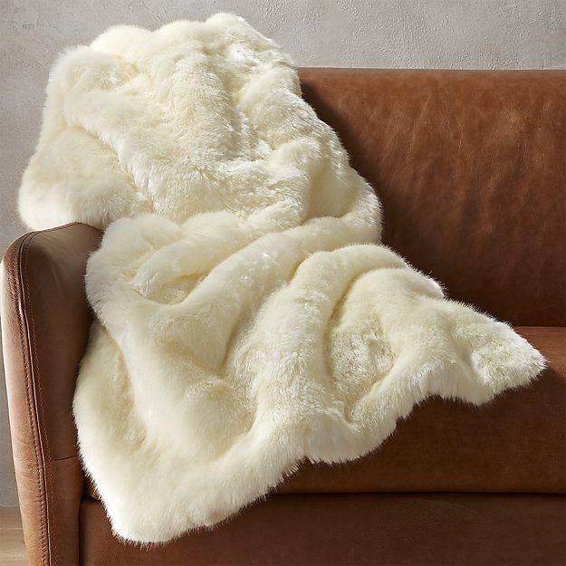 White Faux Fur Throw Blanket Cb2 Decorative Throws Blanket Faux Fur Throw Blanket Throw Blanket