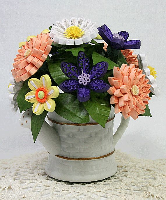 A Spring Bouquet Quilled Paper Art 3D Floral by AGiftwithinaGift, $75.00