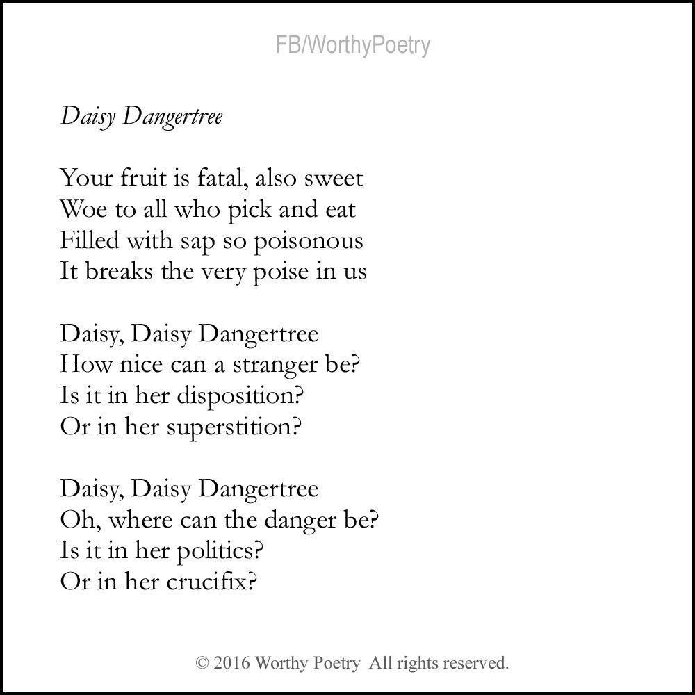 Daisy dangertree poems poetry daisy