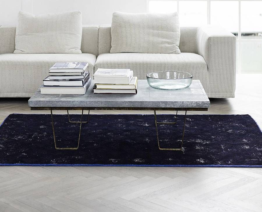 Large Zinc Topped Warehouse Coffee Table