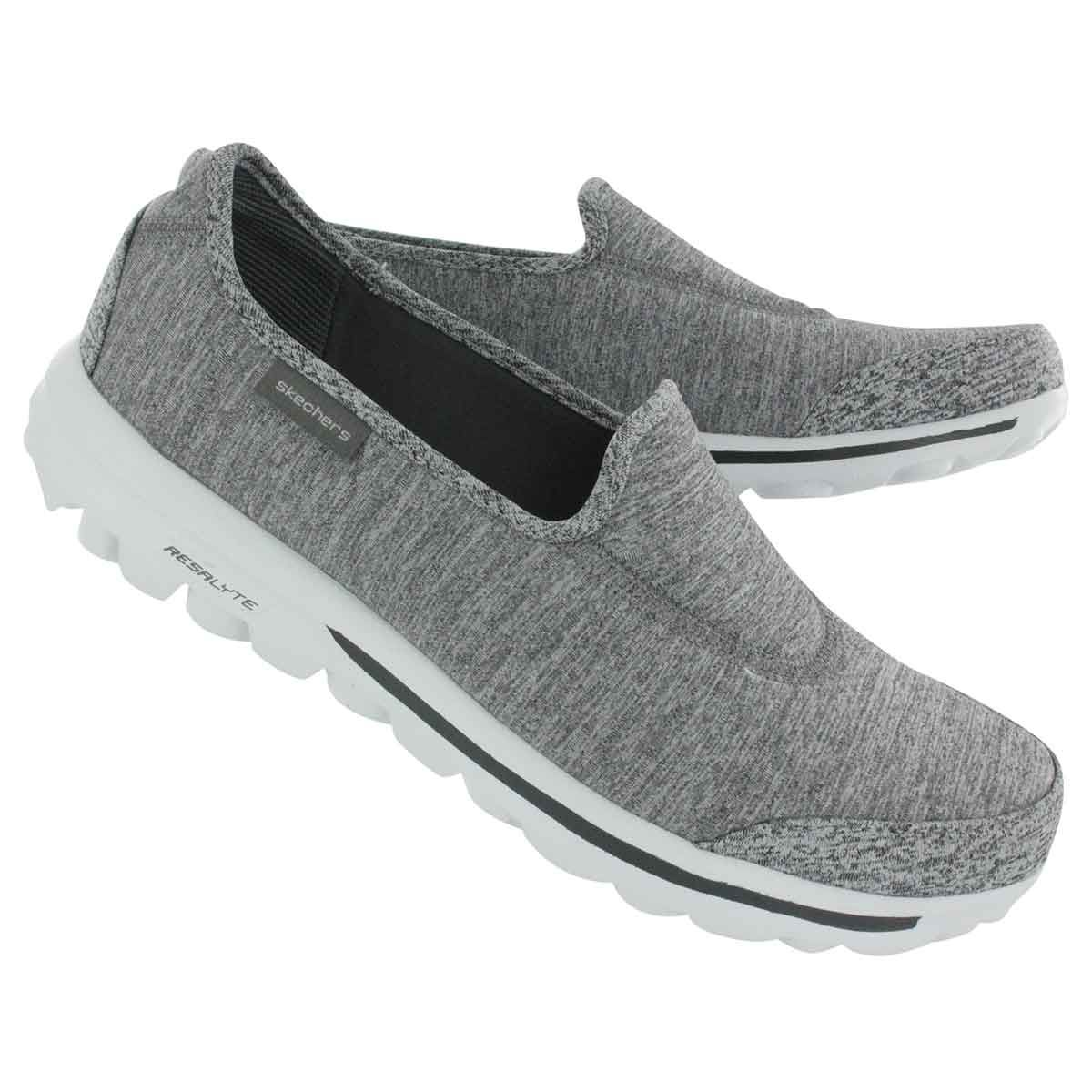 01a310bc641 Skechers Women s GOwalk INTERVAL grey slip ons 13585 gry I think that these  would be great dog walking shoes! Easy on