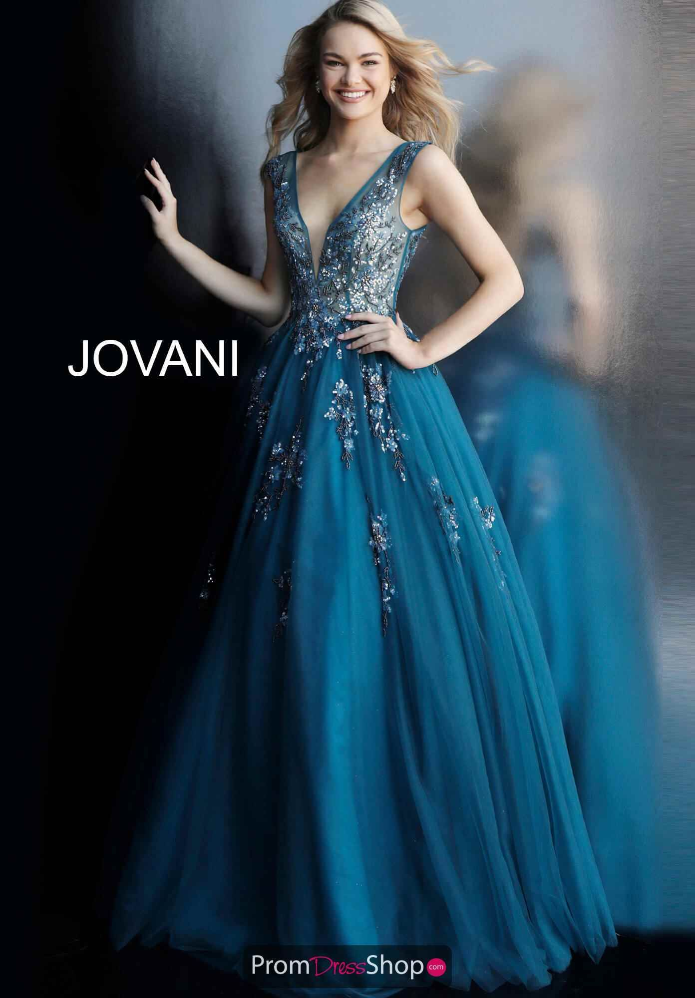 fdc22f414be Jovani Beaded Tulle A-Line Dress 62619 in 2019