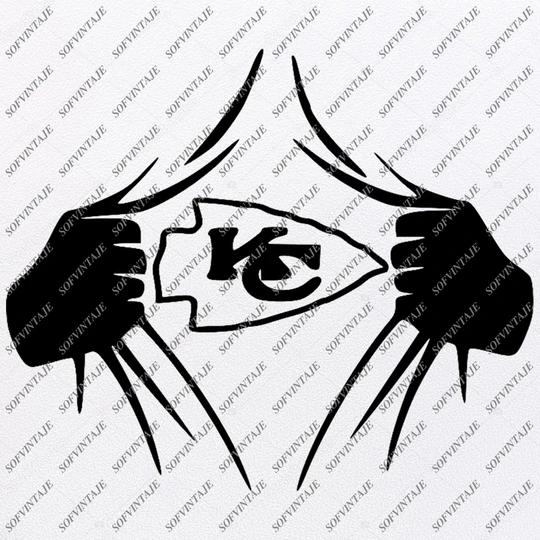 Kansas City Chiefs Football Svg - Football Svg - Chiefs Svg - Football Clip art - Svg For Cricut - Svg For Silhouette - SVG - EPS - PDF - DXF - PNG - JPG - AI