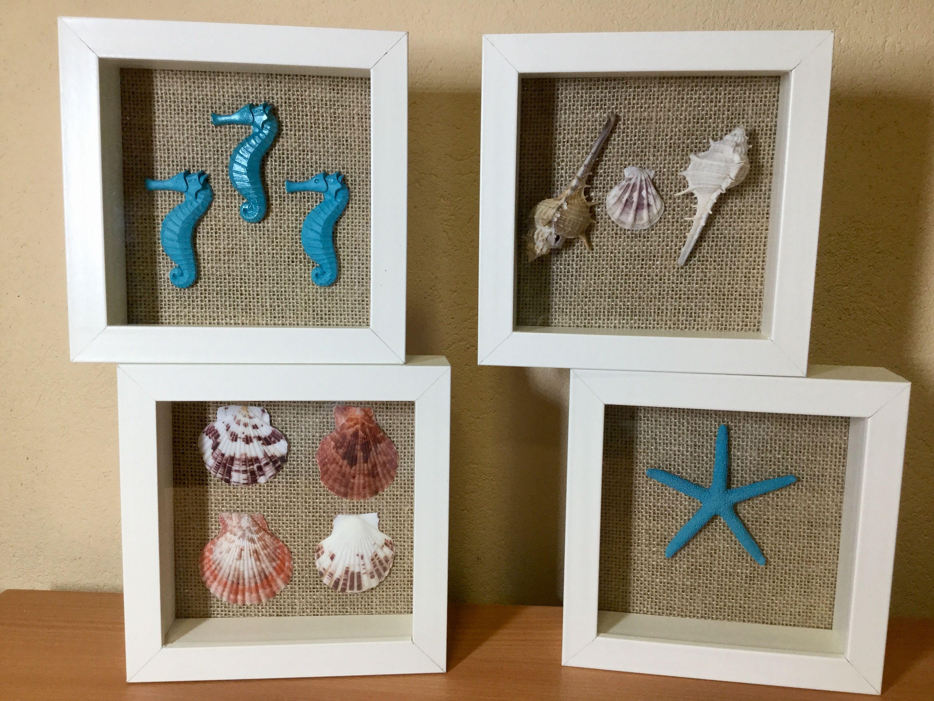 Cuadros reciclados de Ikea | Cuadros marineros, Decoración
