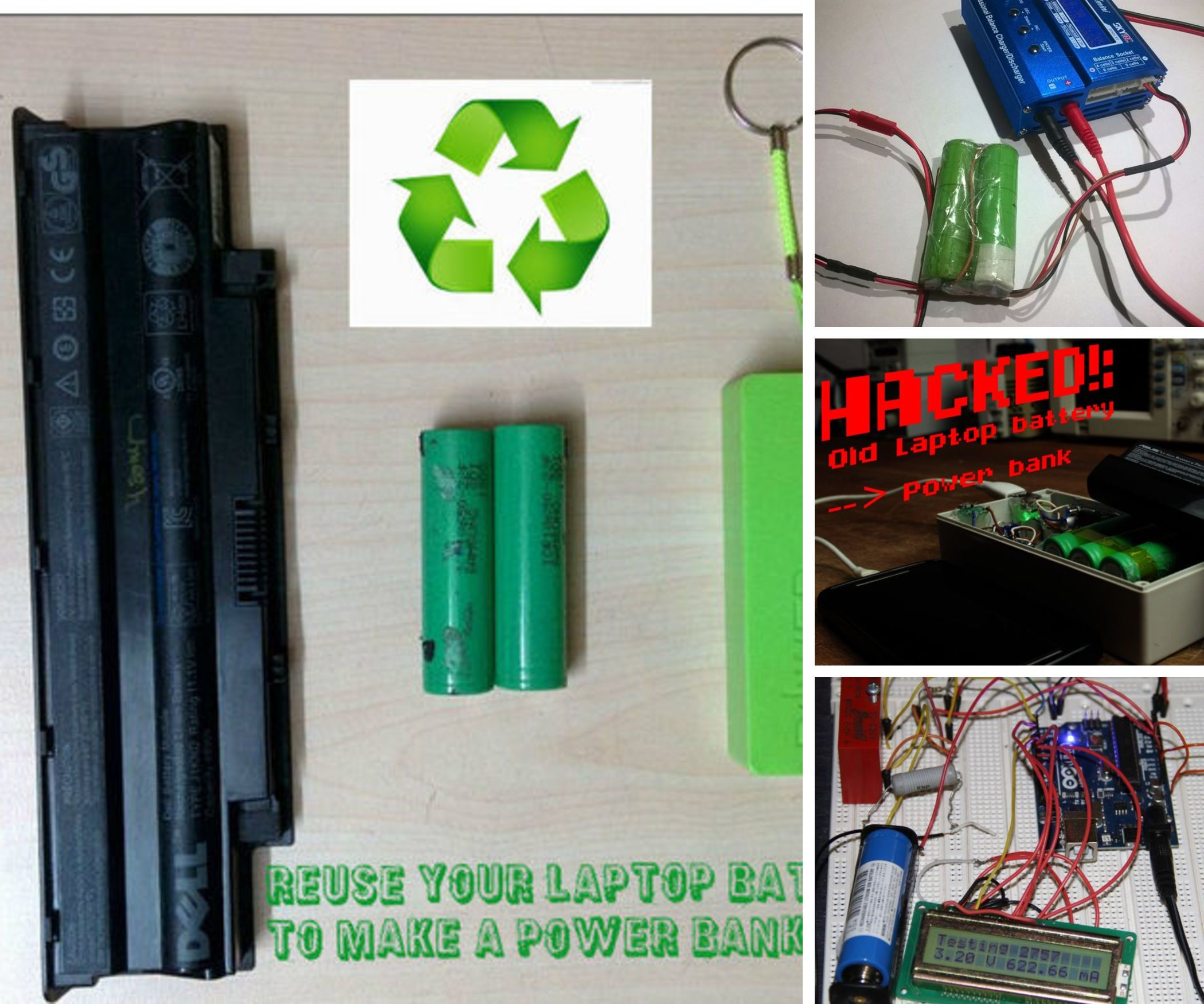 7 Ways To Reuse A Laptop Battery Laptop Battery Car Battery Charger Reuse