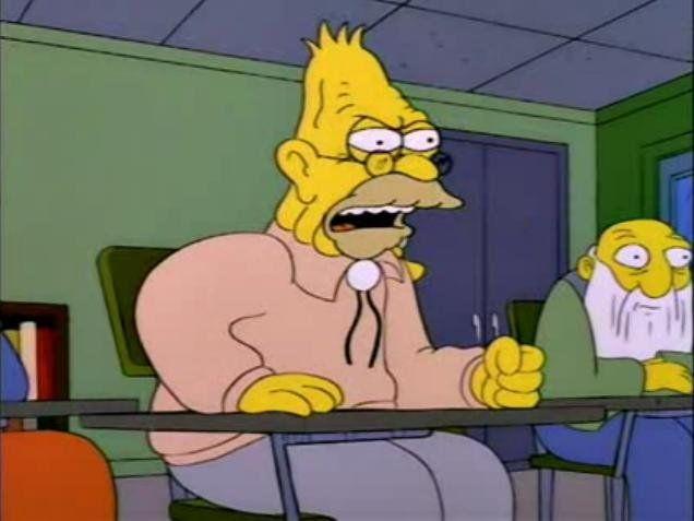 Hombre Topo Comer Una Naranja Es Como Tener Un Buen Matrimonio Abuelo Ya Cómete La Maldita N Personajes De Rick Y Morty Memes Simpsons Un Buen Matrimonio