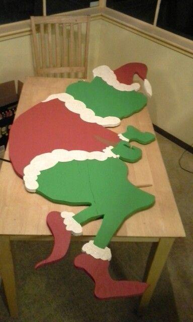 Grinch yard art - base coat done   Christmas yard art, Christmas crafts decorations, Christmas ...