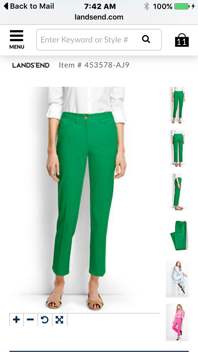 08956866a77c Love this color Ankle Bones, Lands End, Cropped Pants, Shopping Bag, Kids