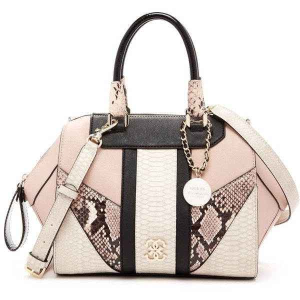 71c203b17f36 Celebrity chic! Keep your style game on point with this faux leather box  satchel from GUESS. Complete with elegant rolled handles and a signature  bracelet ...