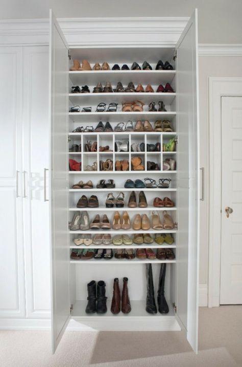 Rangement Pour Dressing rangement chaussures : idées pour armoire et dressing | dressing