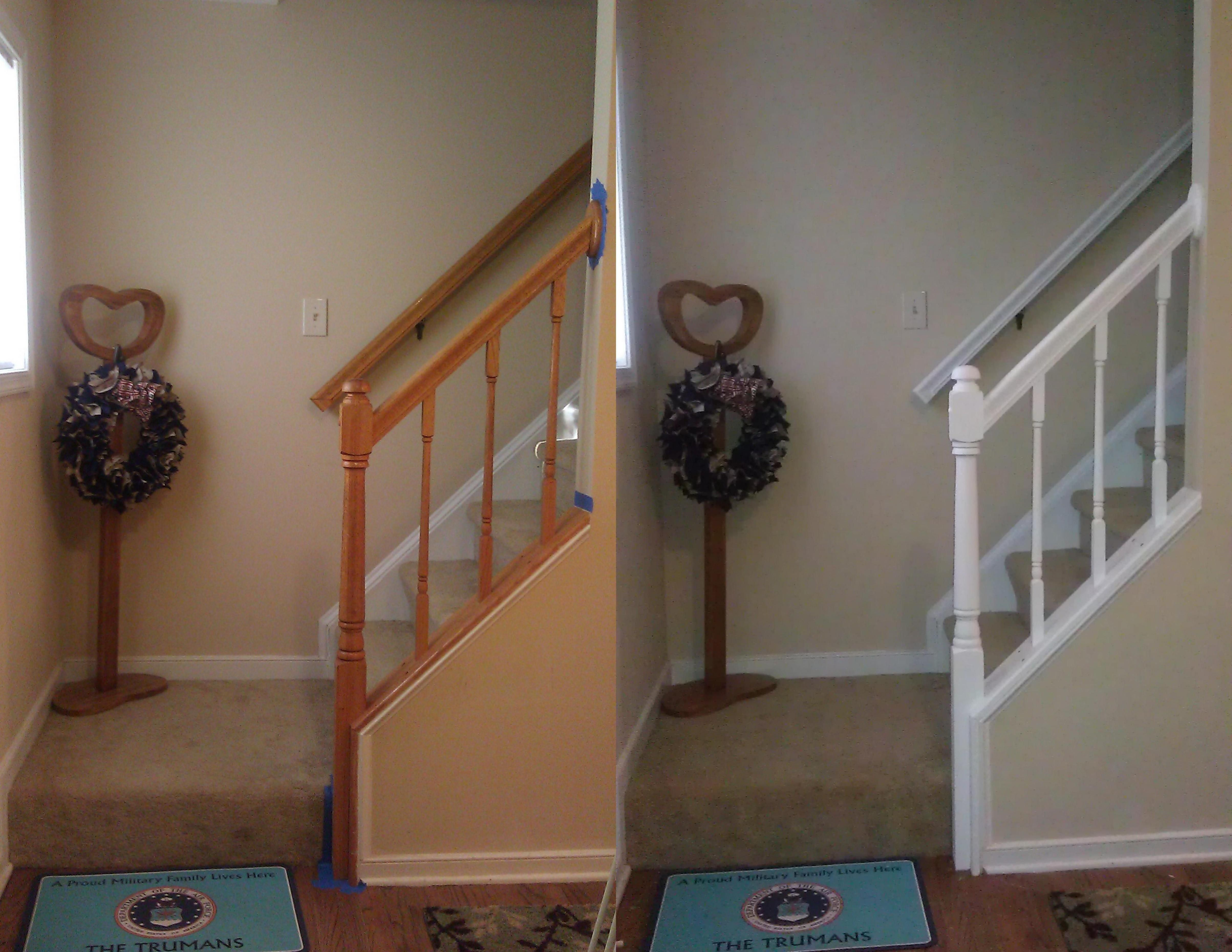 Staircase Wall Painting Ideas Bathroom Renovation Cost Banister