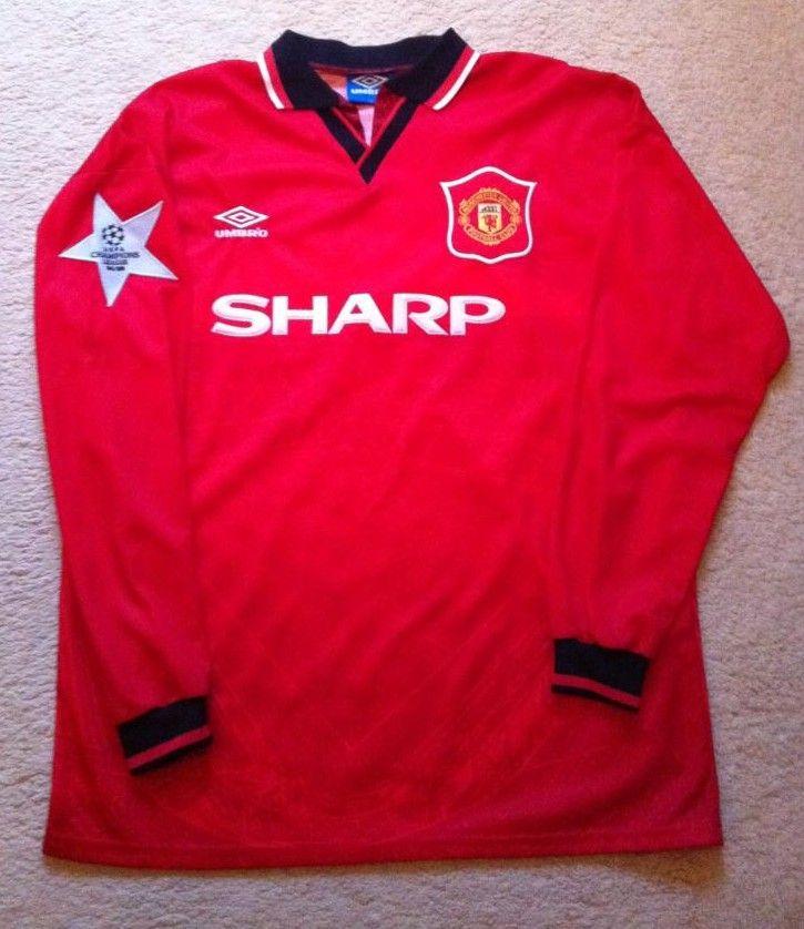innovative design 0399a 7f9cf Manchester United Home football shirt 1995 - 1996 | football ...